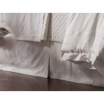 CASABLANCA TAILORED 3 PANEL BED SKIRT / WHITE LINEN 3/22X86