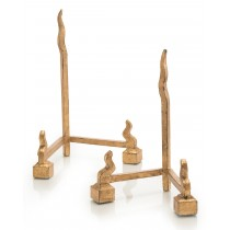Gold Forged Charger Stands, Set/2