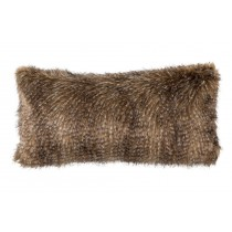 CHESTNUT FUR LG. RECTANGLE PILLOW 14X30