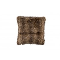 CHESTNUT FUR SQUARE PILLOW 24X24