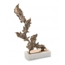 chinkapin-leaves-sculpture-on-marble-base