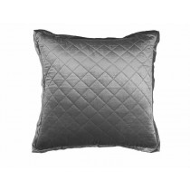 CHLOE EUROPEAN PILLOW / SILVER VELVET 26X26