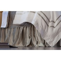 CHLOE GATHERED 3 PANEL BED SKIRT / ICE SILVER VELVET 3/22X86