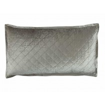 CHLOE KING PILLOW / ICE SILVER VELVET 20X36