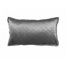 CHLOE KING PILLOW / SILVER VELVET 20X36