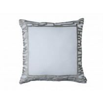 CHRISTIAN EUROPEAN PILLOW WHITE LINEN / PLATINUM VELVET 28X28
