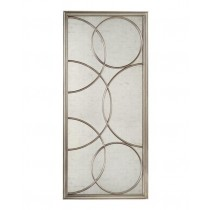 Cirella Eglomise Silver Oversized Decorative Mirror