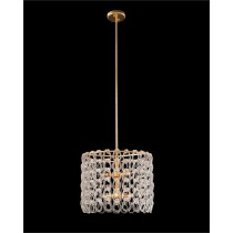 Designer Lighting Interlocking Crystal Chain 6-Light Pendant