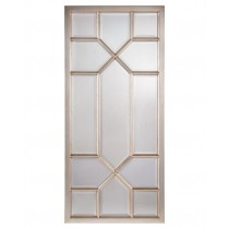 Don't-You-Fret Rectangular, Silver-Leaf Beveled Oversized Mirror