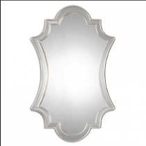 Elara Polished Edge Decorative Mirror in Silver Frame