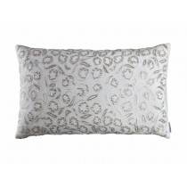 ELLIE LG. RECT. PILLOW / IVORY VELVET / IVORY RIBBON / BEADS 18X30