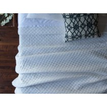 EMILY TWIN COVERLET/ WHITE LINEN 68X96