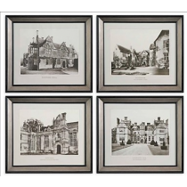 English Cottage Wall Art - Set/4
