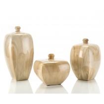 Faux Alabaster Vases, Set/3