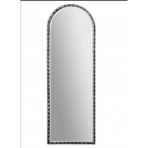Gelston Scalloped Oversized Profile Mirror in Oxidized Silver Finish
