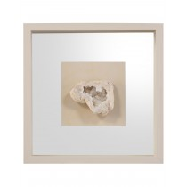 Geode's White Crystal II Shadow Box