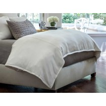 GIA QUEEN DUVET IVORY COTTON & SILK 96X98