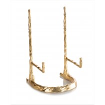 "12 x 6.5 x 5"" Giacometti Gold Plate Stand"