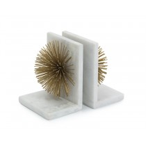 Gold Bursts on Marble Bookends Set/2