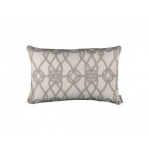 GYPSY SM. RECT. PILLOW / IVORY BASKET WEAVE / NATURAL LINEN 14X22