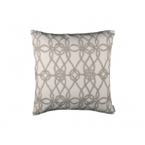 GYPSY SQ. PILLOW / IVORY BASKET WEAVE / NATURAL LINEN 24X24