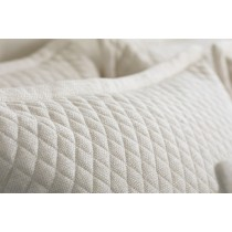 "LAURIE 1"" DIAMOND QUILTED STANDARD PILLOW IVORY BASKETWEAVE 20X26"