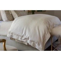 LAURIE QUEEN DUVET IVORY BASKETWEAVE 96X98