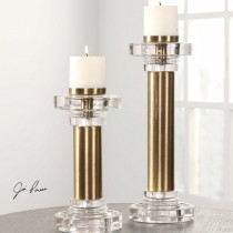 Leslie Candleholders, Set of 2