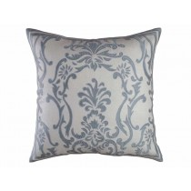 LOUIE EUROPEAN PILLOW / IVORY BASKET WEAVE / BLUE SILK 28X28