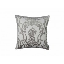 LOUIE SQ. PILLOW / IVORY BASKET WEAVE / PLATINUM VELVET 22X22