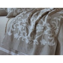 LOUIE THROW / NATURAL LINEN / WHITE LINEN 36X72