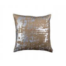 MODERNE SQ. PILLOW STRAW VELVET/ PLATINUM FOIL 22X22