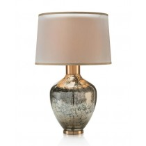 Hand-Blown Mottled Metallic Urn Table Lamp