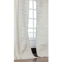 MOZART DRAPERY PANEL / WHITE LINEN / WHITE LINEN / LEFT & RIGHT / SET-2 / 52X120