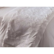 Mozart Luxury Bedding White Linen Throw Blanket