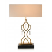 "31"" Navajo Honey Brass Table Lamp"