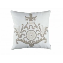 PARIS SQ. PILLOW / WHITE LINEN / NATURAL LINEN 22X22