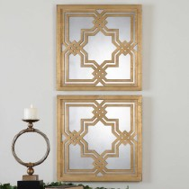 Piazzale Decorative Mirror Wall Squares 1
