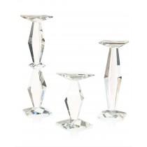 Prism Crystal Candleholders Set/3