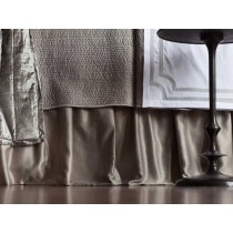 RETRO GATHERED BED SKIRT / PEWTER S&S 3/22X86