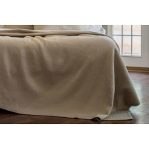 RETRO QUEEN COVERLET TAUPE S&S 96X98