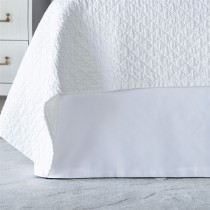 RETRO TAILORED BED SKIRT WHITE COTTON 3/22X86