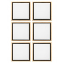 Set of 6 Reverse Shadow Box Beveled Decorative Mirrors