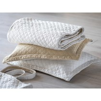 SILK & SENSIBILITY COVERLET TOTE QUEEN* / IVORY S&S / ECRU S&S 96X98