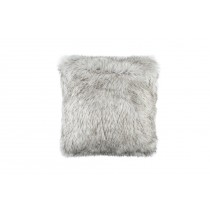 SILVER FUR SQUARE PILLOW 24X24