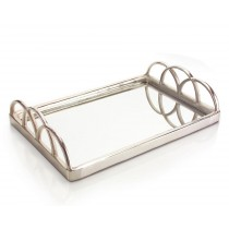 Small Silver Mirrored Tray