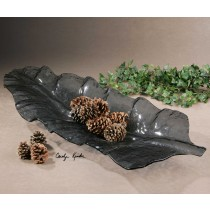 Smoked Leaf Tray