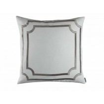 SOHO EUROPEAN PILLOW / WHITE LINEN / SILVER VELVET 26X26