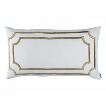 SOHO KING PILLOW / WHITE LINEN / STRAW VELVET 20X36