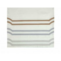SOHO 2 KING 300TC PILLOWCASES IVORY / GRAY KING